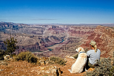 Photographer and Boss at the Grand Canyon