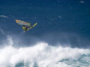 Pro sailboarder Maui